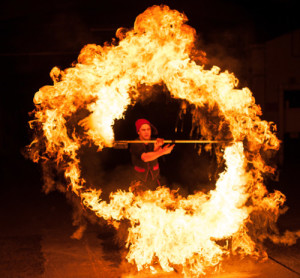 Große Feuershow in Herrieden @ Vorplatz der Stiftsbasilika   Herrieden   Bayern   Deutschland